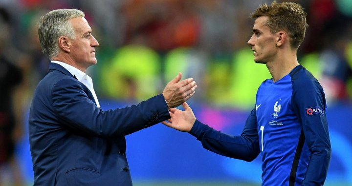 Deschamps con Griezmann / EFE