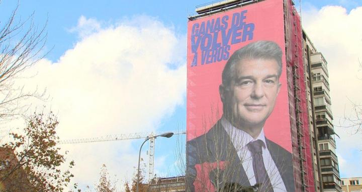 Cartel de Joan Laporta en Madrid / EP
