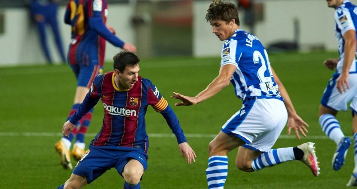 Messi con Le Normand / EFE