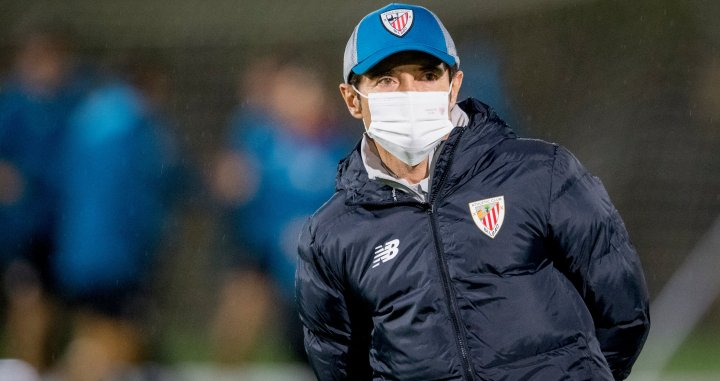 Marcelino García Toral en su primer entrenamiento en el Athletic Club / Athletic Club