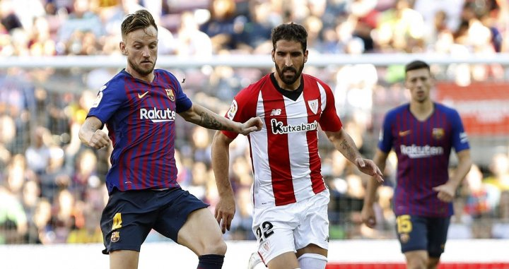 Una foto de Ivan Rakitic durante el partido frente al Athletic Club / EFE