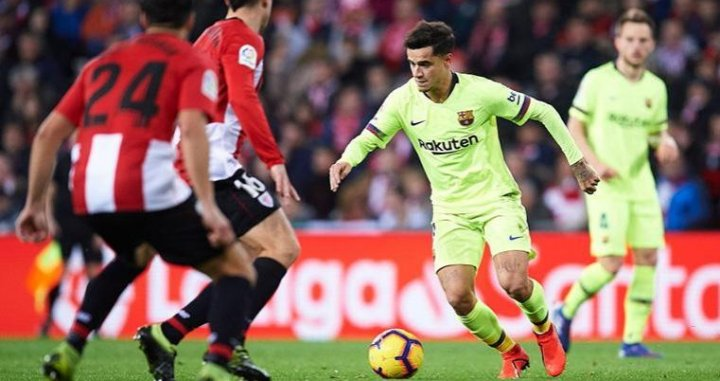 Philippe Coutinho en el Athletic Club - Barça de este domingo / EFE
