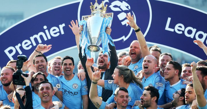 El Manchester City celebra la Premier League / EFE
