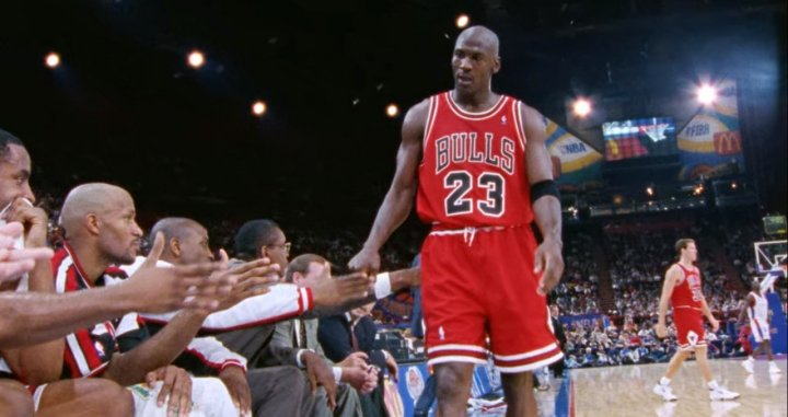 Michael Jordan en un fragmento del documental