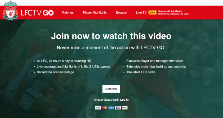 Plataforma digital de 'streaming' del Liverpool / Liverpool